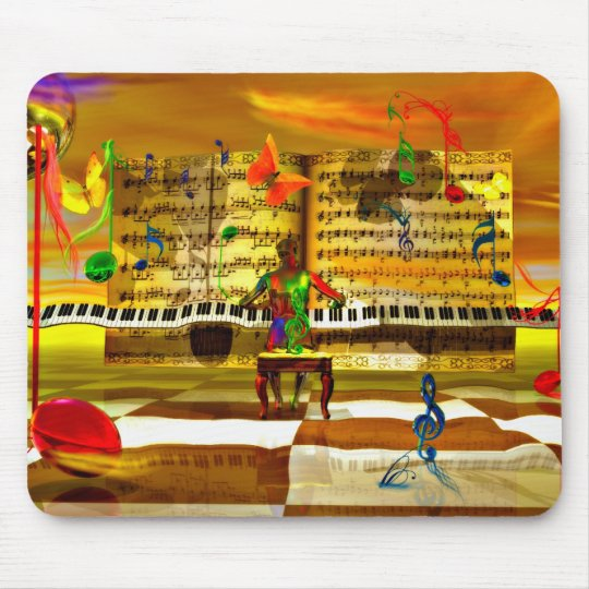 Piano art mouse pad