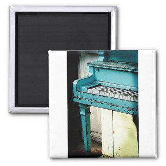 Piano azul iman para frigorífico