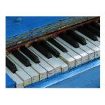 Piano azul postales