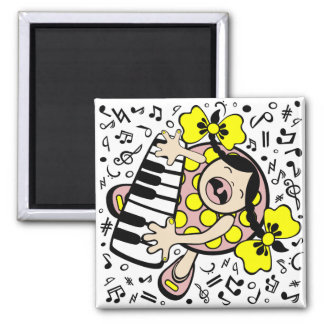 piano baby 2 inch square magnet