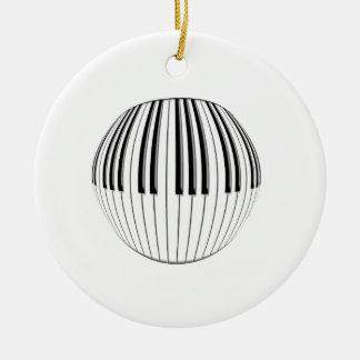 Piano Ball Ceramic Ornament