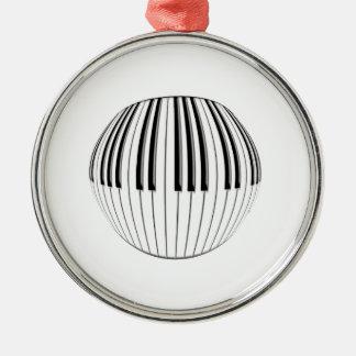 Piano Ball Metal Ornament