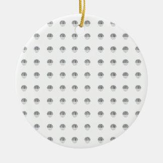 Piano Ball Pattern Ceramic Ornament