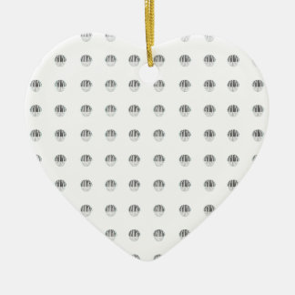 Piano Ball Pattern Double-Sided Heart Ceramic Christmas Ornament