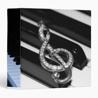 """Piano Bar Design 2""""2 3 Ring Binder"""