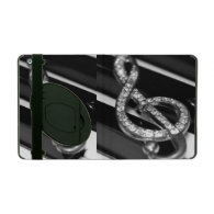 Piano bar with G-clef iPad Cover
