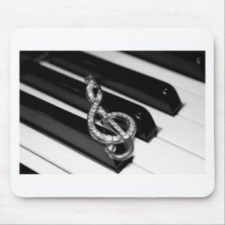 Piano Bar with G-clef Mouse Pad