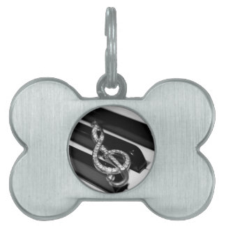 Piano Bar with G-clef Pet Tags