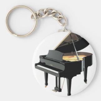 PIANO BASIC ROUND BUTTON KEYCHAIN