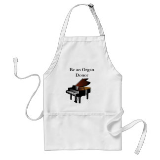 Piano Be an Organ Donor Adult Apron
