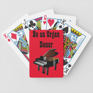 Piano Be an Organ Donor Bicycle Playing Cards