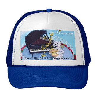 Piano Bears Character Hat for Piano Kids