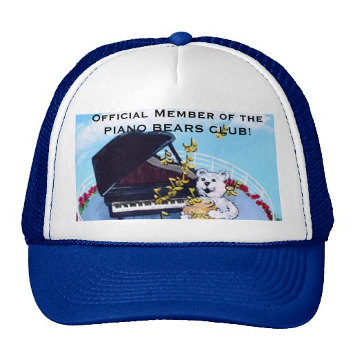 Piano Bears Club Cap Trucker Hat