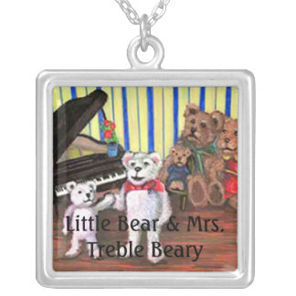 Piano Bears Storybook Necklace