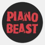Piano Beast Stickers