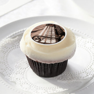 Piano bench edible frosting rounds