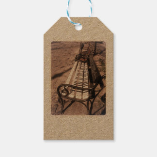 Piano bench gift tags