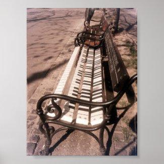 Piano Bench Print