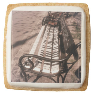Piano bench square shortbread cookie