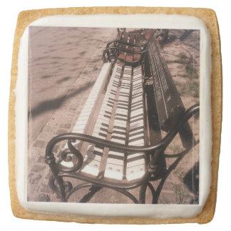 Piano bench square shortbread cookie