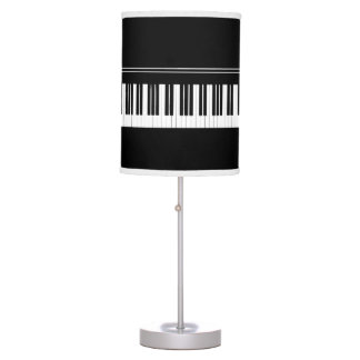 Piano Black And White Keys Music Themed Desk Lamps
