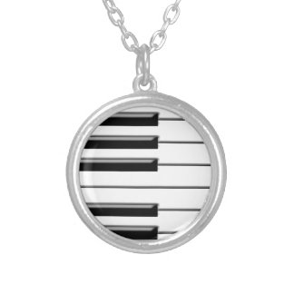Piano Black and White Necklace