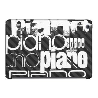 Piano; Black & Dark Gray Stripes iPad Mini Retina Cases