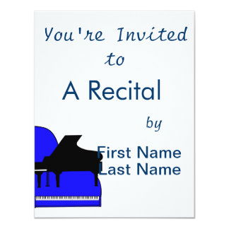 Piano Black Sillouette Blue Top View Card
