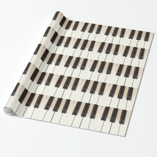 Piano Black White keys Gift Wrapping Paper