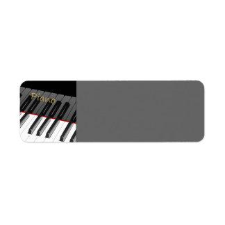 piano blanco negro 1312702225_Vector_Clipart Etiqueta De Remite