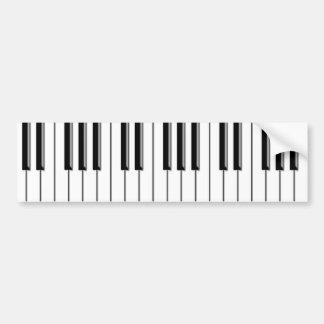 Piano blanco y negro pegatina para auto
