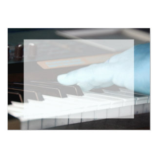 piano blue electric left hand playing keys music d card