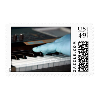piano blue electric left hand playing keys music d stamp