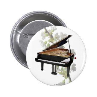 Piano - botón romántico de la música pins