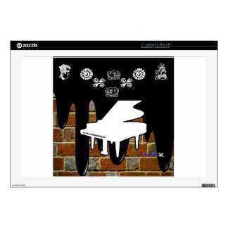 """PIANO BRICK BACKGROUND PRODUCTS SKIN FOR 17"""" LAPTOP"""