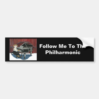 Piano Bumper Sticker Car Bumper Sticker