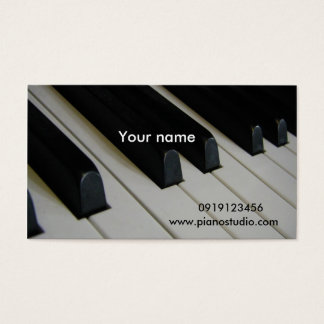 Piano/ Business Card