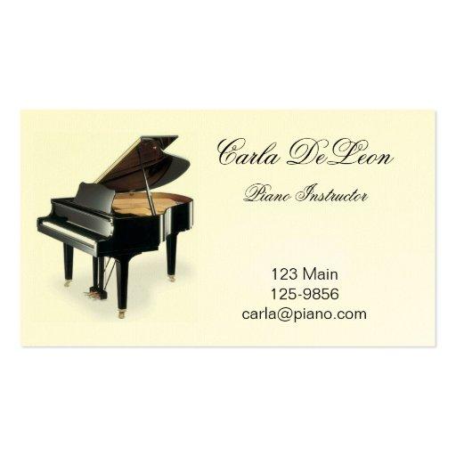 Music Teacher Business Card Templates Page9 Bizcardstudio