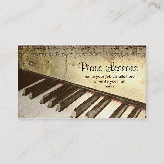 Piano Business Card Zazzle