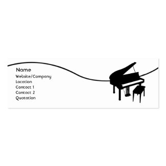 Piano Double-Sided Mini Business Cards (Pack Of 20)