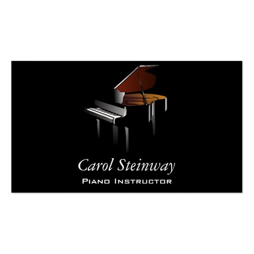 Piano Double-Sided Standard Business Cards (Pack Of 100)