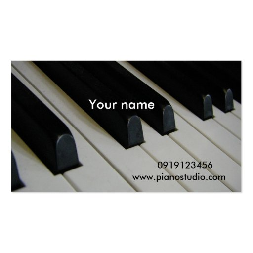 Music business card templates page34 bizcardstudio for Music business card template