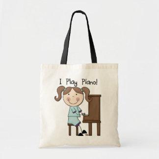 Piano - camisetas y regalos femeninos bolsa tela barata