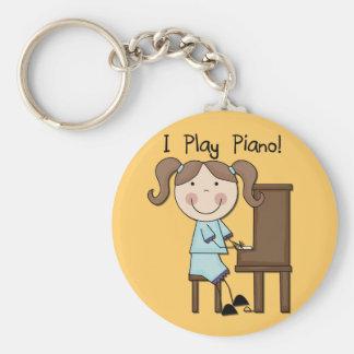 Piano - camisetas y regalos femeninos llavero redondo tipo pin