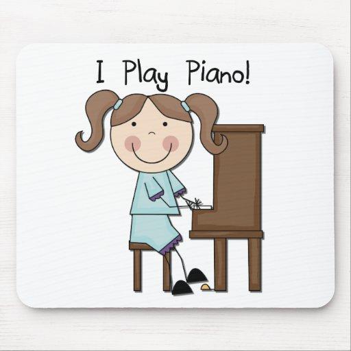 Piano - camisetas y regalos femeninos alfombrillas de ratones