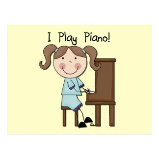 Piano - camisetas y regalos femeninos postales