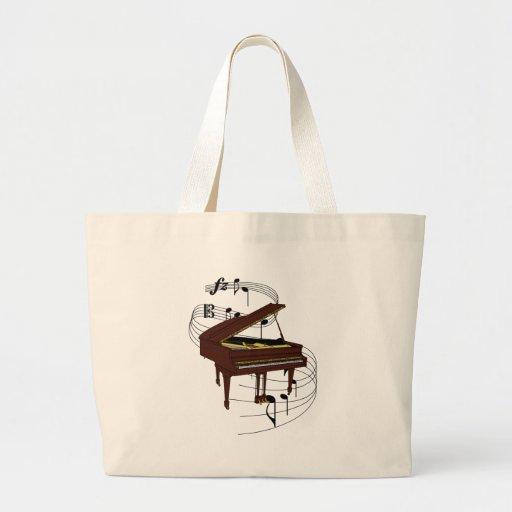 Piano Canvas Bags