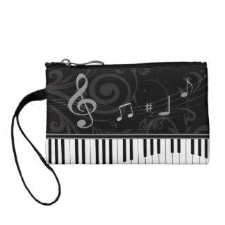 Piano caprichoso y notas musicales
