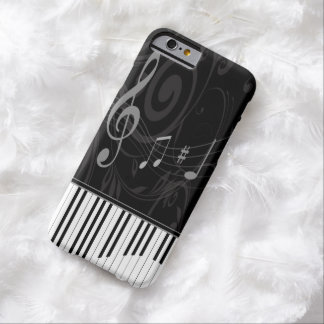 Piano caprichoso y notas musicales funda barely there iPhone 6