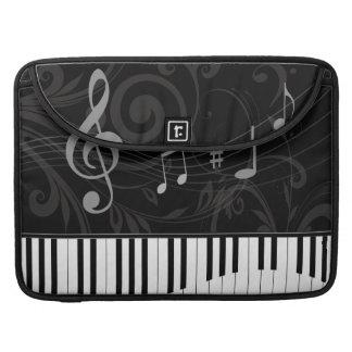 Piano caprichoso y notas musicales fundas macbook pro
